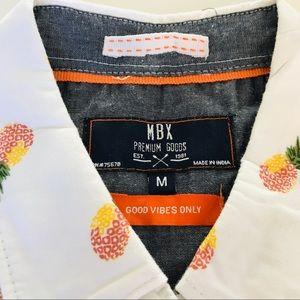 Michael Brandon Shirts - MBX Medium Slim Fit Pineapple Print Button Down